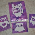 canvas stencil owl art
