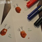 reindeer thumbprint gift tags