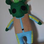 Our handmade plush Greedo doll